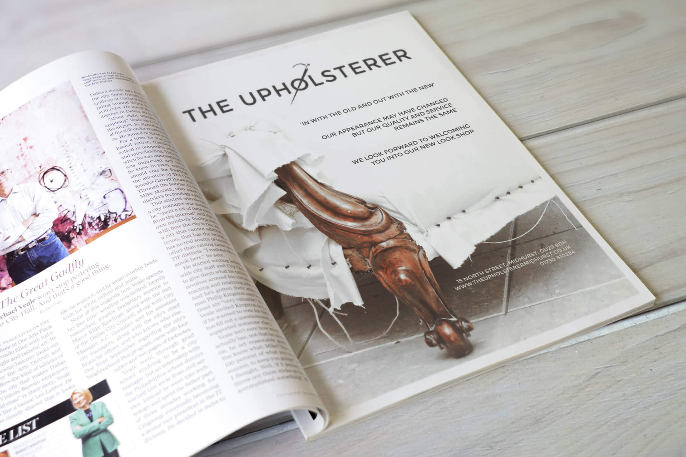 The Upholsterers Advertising