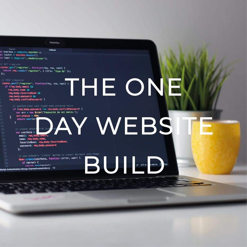 ONE DAY SITE BUILD